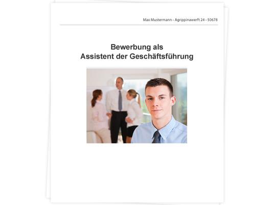 Assistent der Geschäftsführung Bewerbung - Tipps zu Anschreiben ...