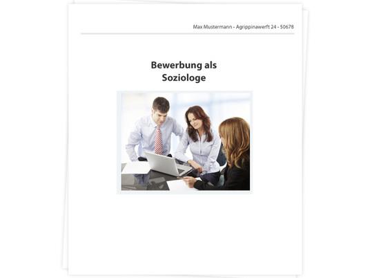 Soziologe Bewerbung - Tipps zu Anschreiben, Lebenslauf und ...