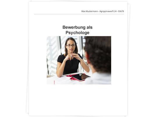 Psychologe Bewerbung - Tipps zu Anschreiben und Lebenslauf